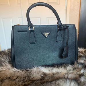 Galleria Saffiano Leather small Prada bag